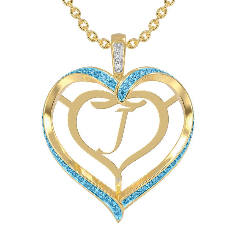 Personalized Birthstone Diamond Pendant 10138 0012 c march