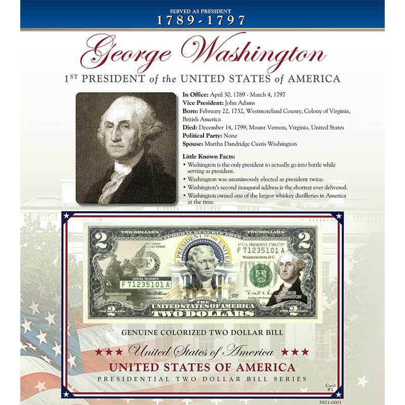US Presidents Enhanced 2 Bill Collection 5921 001 3 1