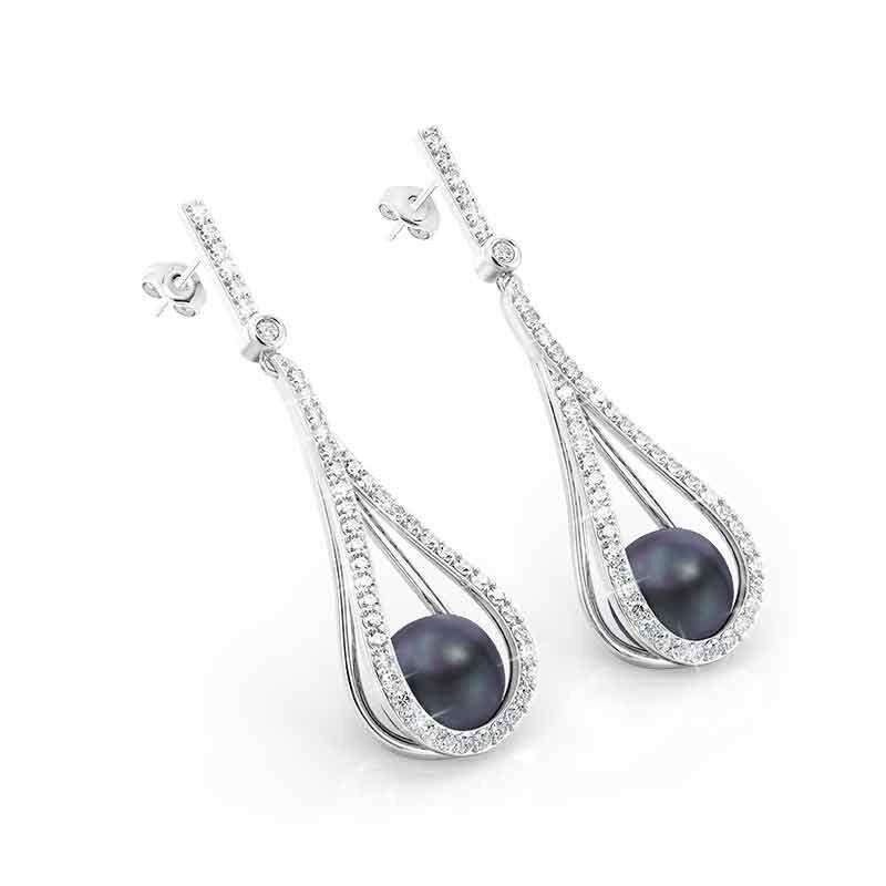 Tahitian Treat Black Pearl Earrings 6164 001 7 2