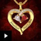 Forever Together Crystal & Diamond Heart Pendant, , video-thumb