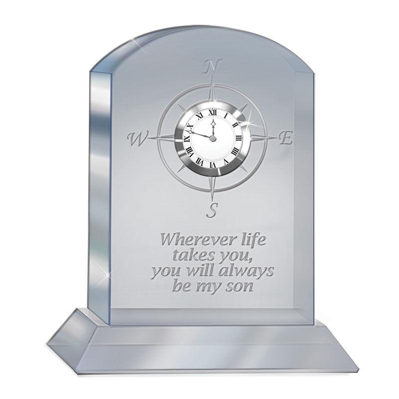 Always My Son Crystal Desk Clock 4586 002 0 1