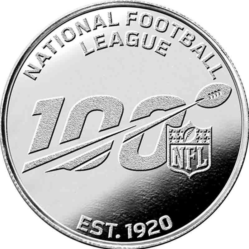 NFL 100th Season Silver Commemorative 6229 001 0 1