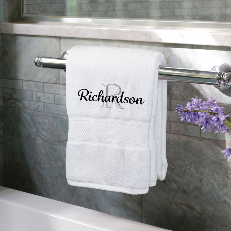 The Personalized Luxury Towel Set 10058 0018 b towel holder