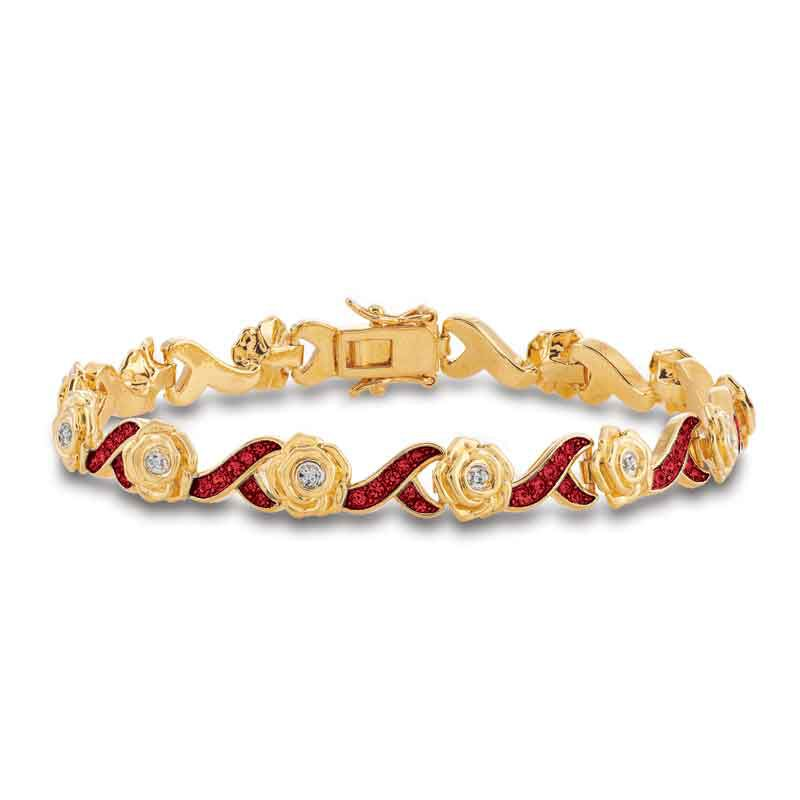A Dozen Roses Birthstone  Diamond Bracelet 6684 001 8 10