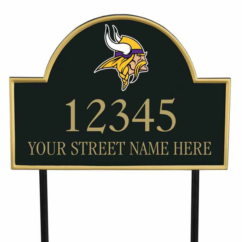 The NFL Personalized Address Plaque 5463 0355 z vikings