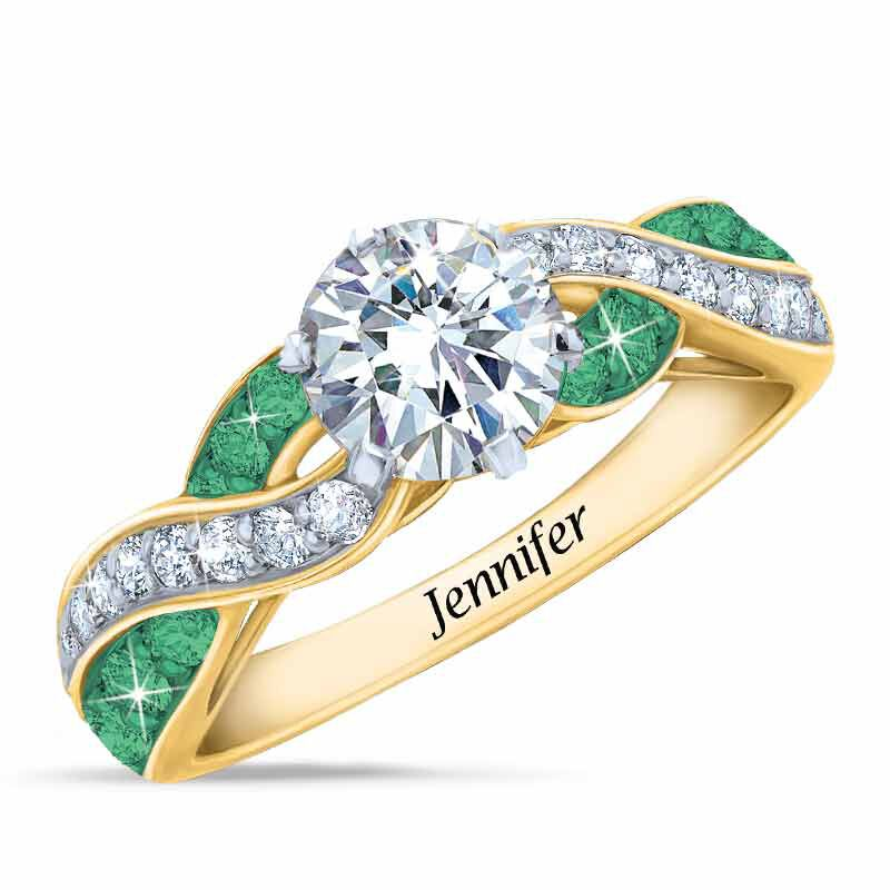 Birthstone Swirl Personalized Ring 5361 001 0 5
