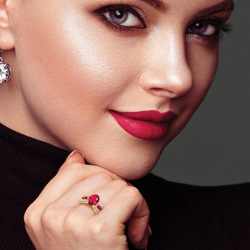 Ruby Red Ravishing Personalized Ring 10103 0021 m model