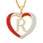 For My Daughter Diamond Initial Heart Pendant 10119 0015 a r initial