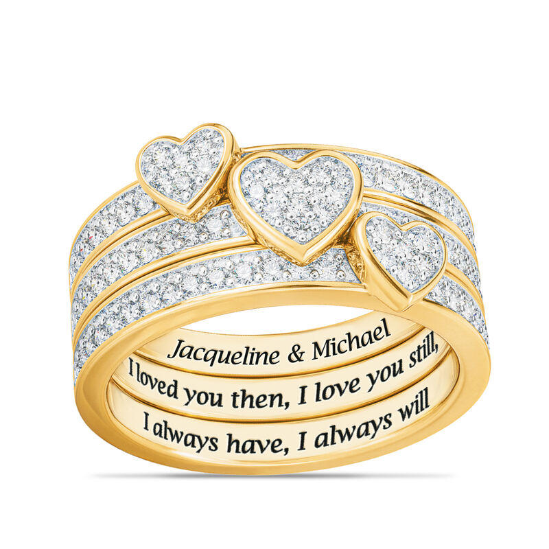 Love Everlasting Personalized Diamond Ring Set 10073 0019 a main