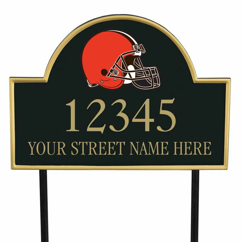 The NFL Personalized Address Plaque 5463 0355 f browns