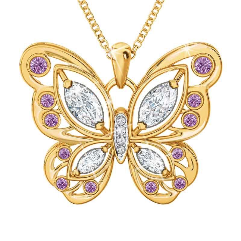 The Birthstone Butterfly Diamond Pendant 2030 001 8 6