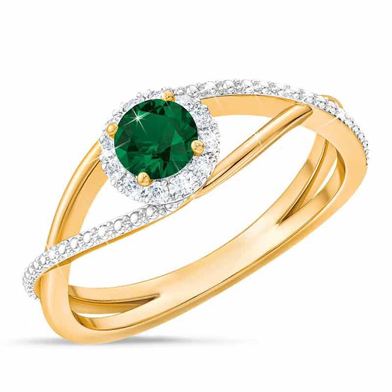 Birthstone  Diamond Ring 1099 001 8 5