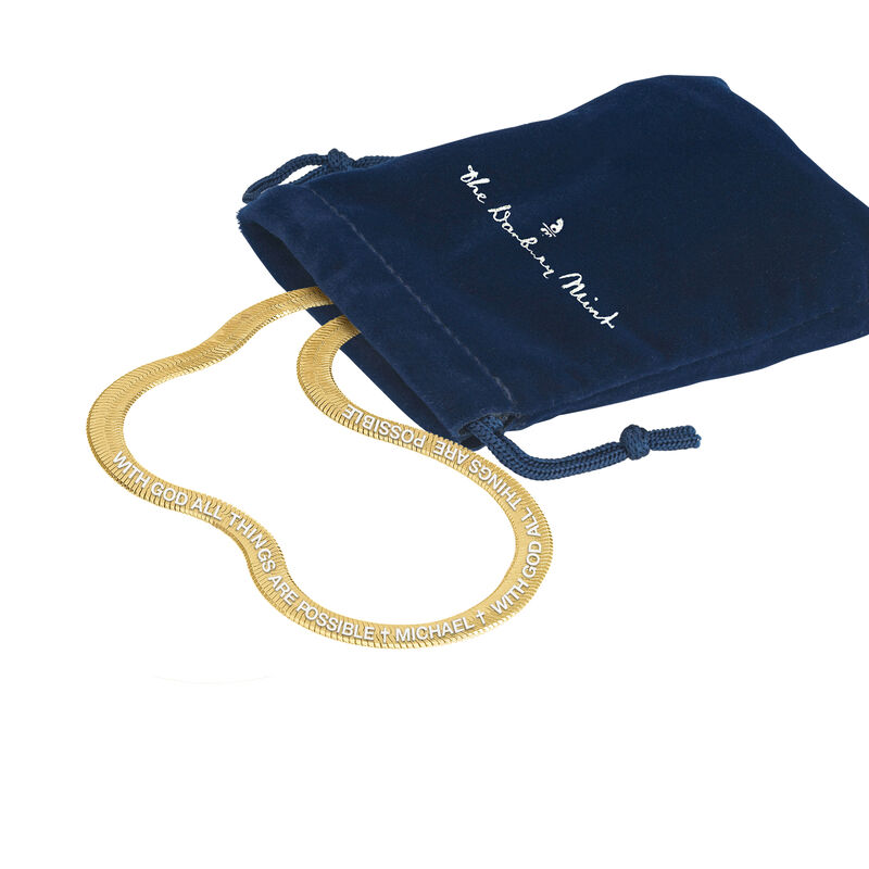 All Things Are Possible Mens Snake Chain 10534 0012 g gift pouch