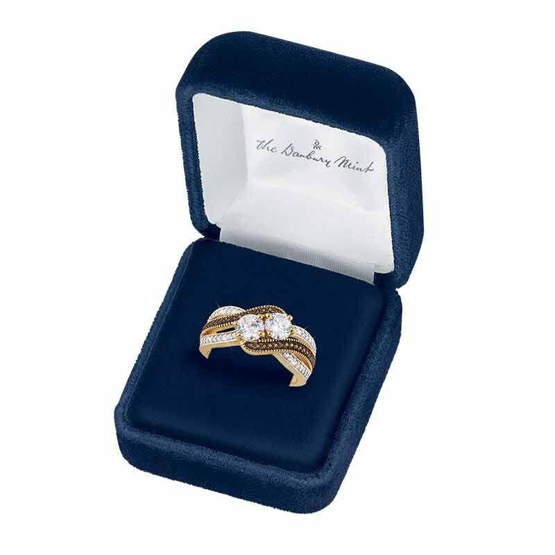 Simulated Diamonds The Danbury Mint I Still Do/Diamonisse/Ring Set Unique Gift for Her #2451-005 Anniversary Ring Set
