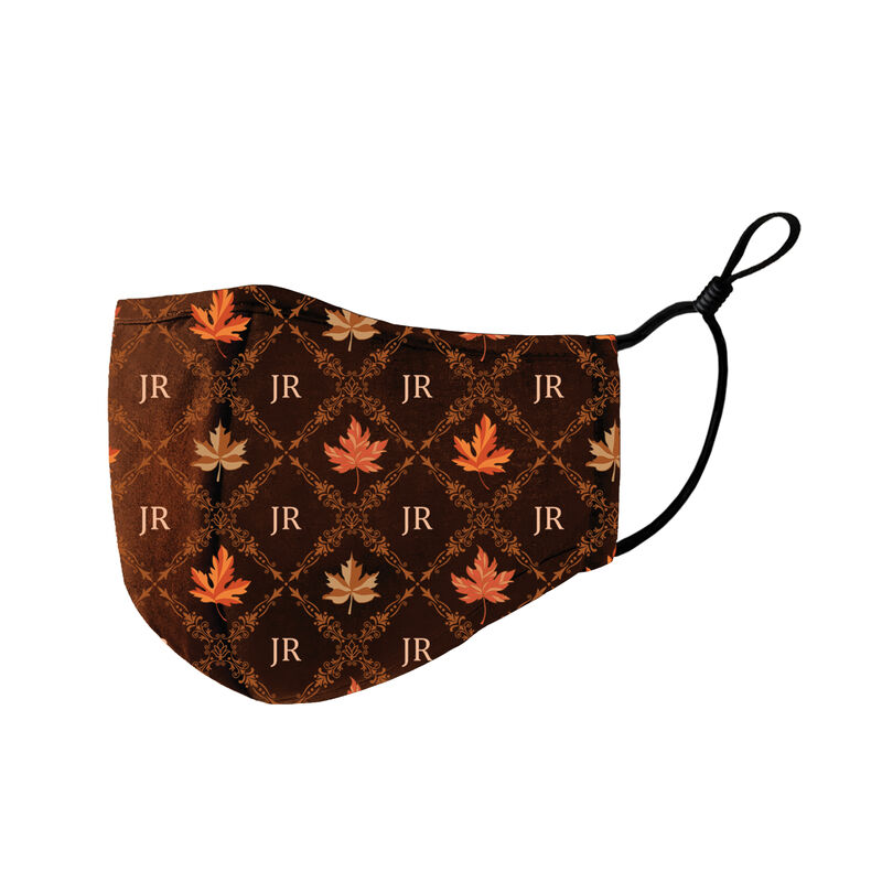 Fabulously Fall Personalized Monogram Face Masks 10024 0019 f brown