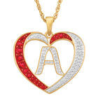 Personalized Diamond Initial Heart Pendant with FREE Poem Card 2300 0060 a main