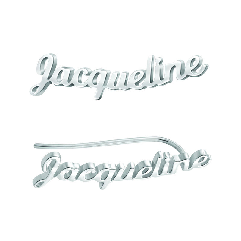 Personalized Sterling Silver Ear Climbers 6824 001 9 1