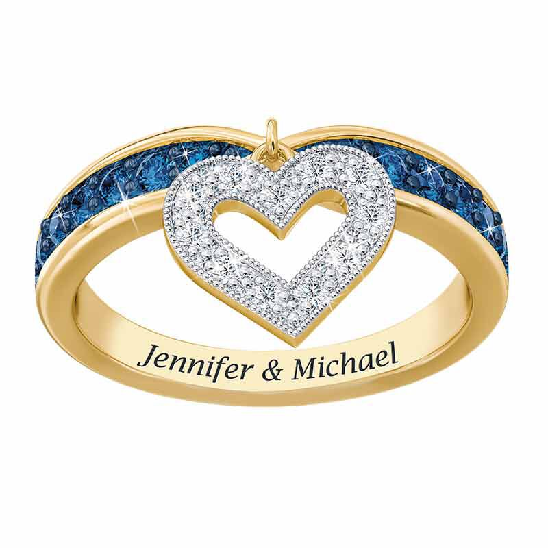 My Love Birthstone  Diamond Charm Ring 2145 001 0 14
