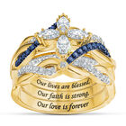Our Lives are blessed our Faith is strong Diamonisse Ring Set 10062 0012 a main