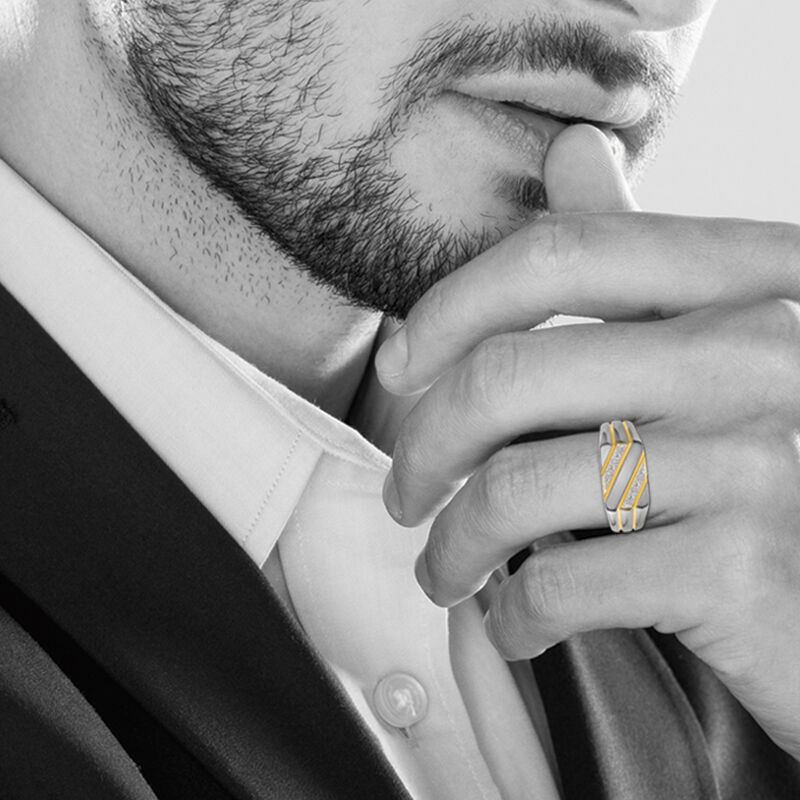 The Gentleman Mens Diamond Ring 6796 001 3 4