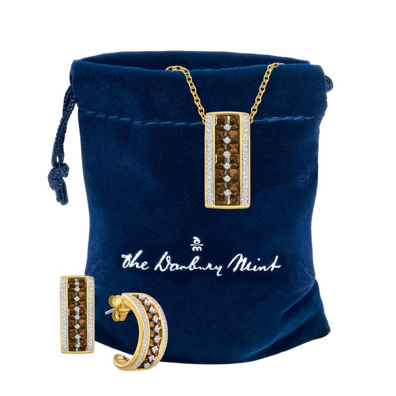 Mocha Desire Pendant Earring Set 6730 0012 g gift pouch