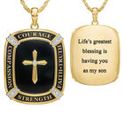 My Lifes Greatest Blessing Son Diamond Faith Pendant 6781 001 0 1