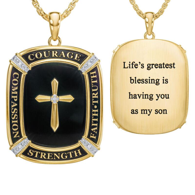 My Lifes Greatest Blessing Son Diamond Faith Pendant 6781 001 0 1