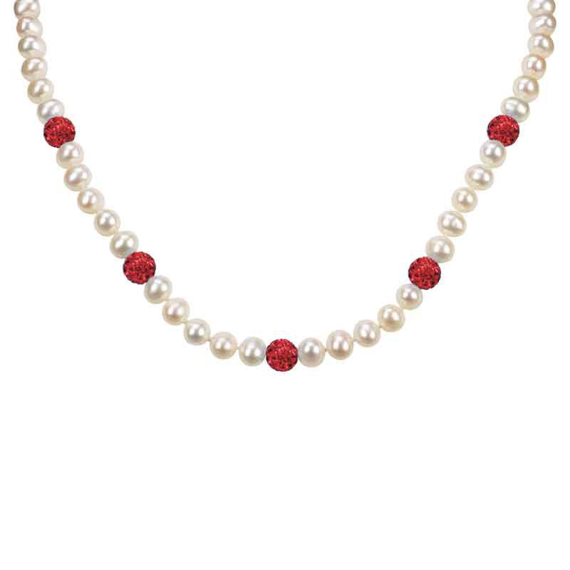 Bedazzled with Birthstones Pearl Necklace 5106 001 0 1
