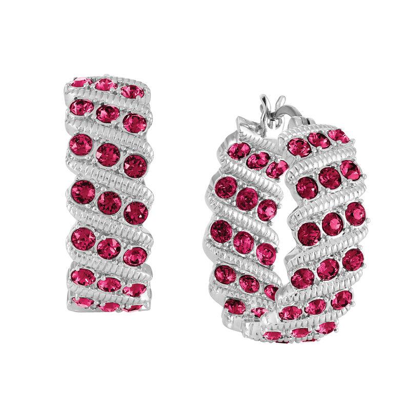 Birthstone Hoop Earrings 6003 0020 g july