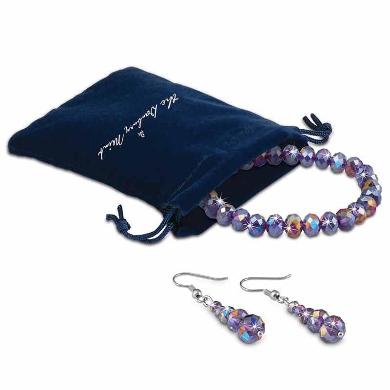 Mystic Glow Crystal Bracelet  Earring Set 5390 007 2 2