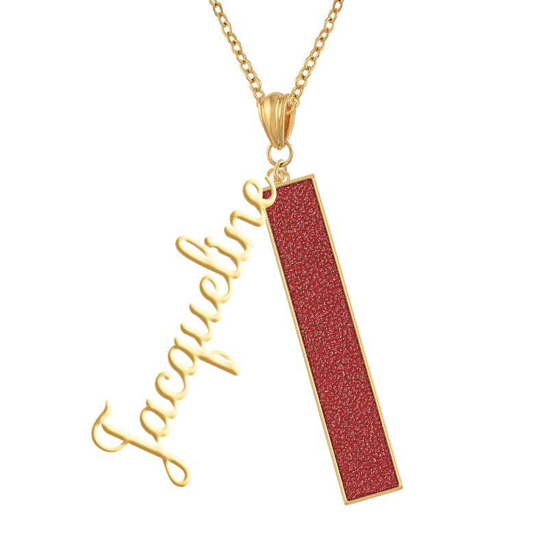 Personalized Birthstone Bar Necklace 6800 001 7 7