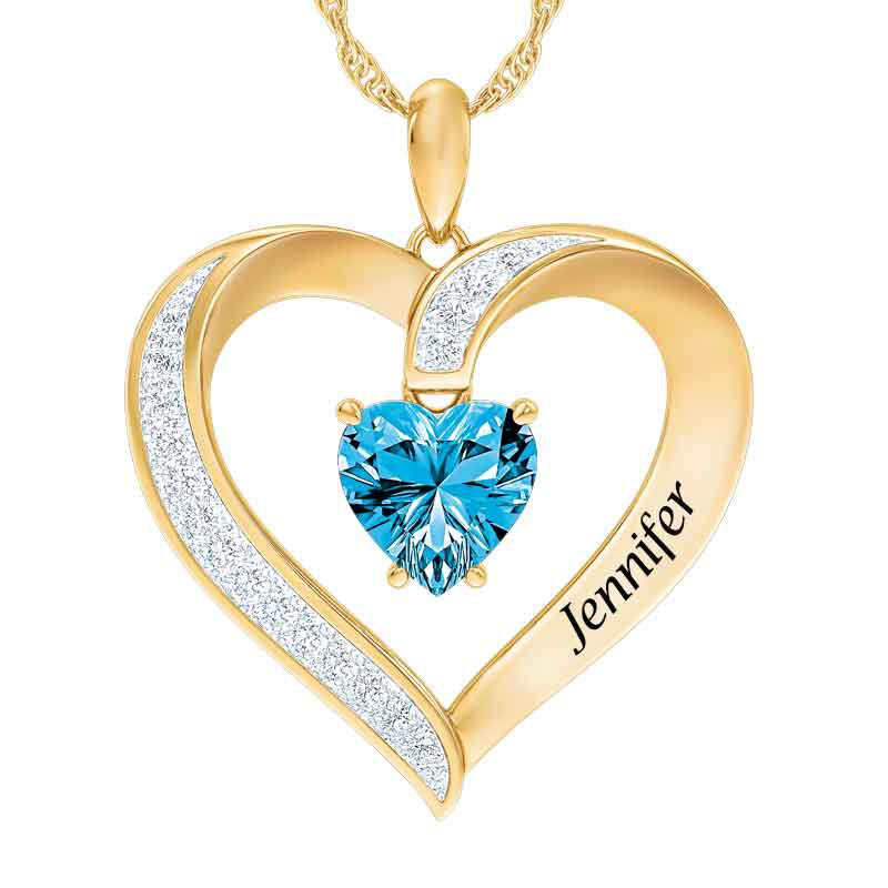 Personalized Birthstone Heart Pendant 5447 001 8 12