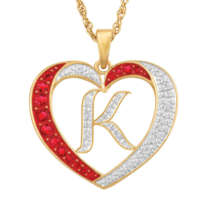 For My Daughter Diamond Initial Heart Pendant 10119 0015 a k initial