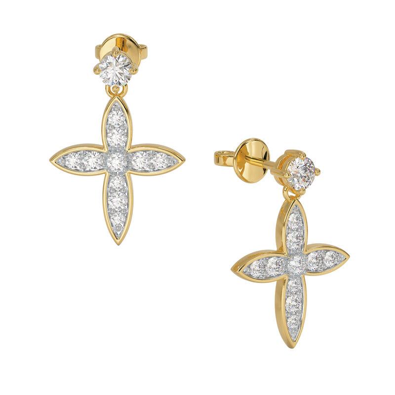 Heavenly Swirl Cross Necklace and Earrings Set 6892 0016 c earring