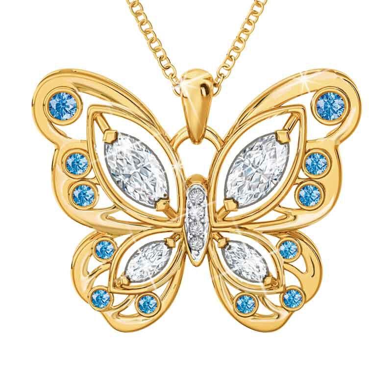 The Birthstone Butterfly Diamond Pendant 2030 001 8 12