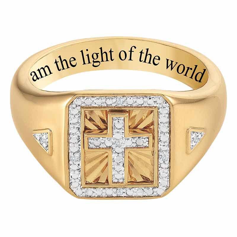 Light of the World Diamond Cross Ring 6692 001 8 2