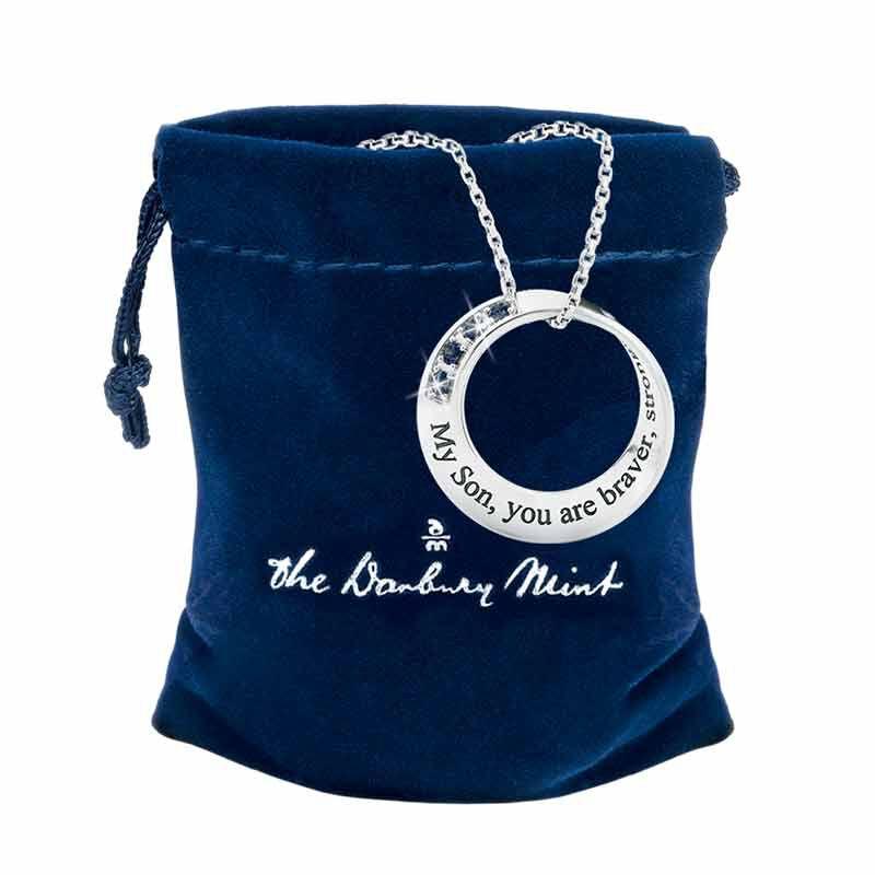 Son Infinity Circle Black Sapphire Pendant 6463 001 5 3
