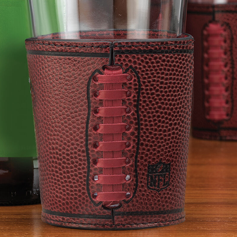 Cowboys Leather Wrapped Pint Glasses 6127 0013 b detailsshot