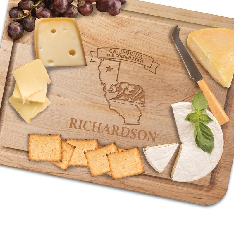 The Personalized State Cutting Board 2416 0020 c cheese