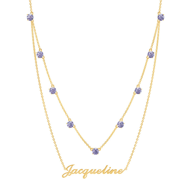 The Birthstone Layered Necklace 6788 001 3 6