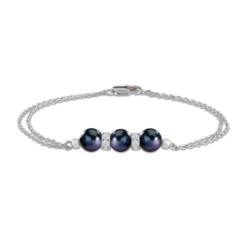 Midnight Spell Black Pearl Necklace with FREE Bracelet 1333 0311 c bracelet