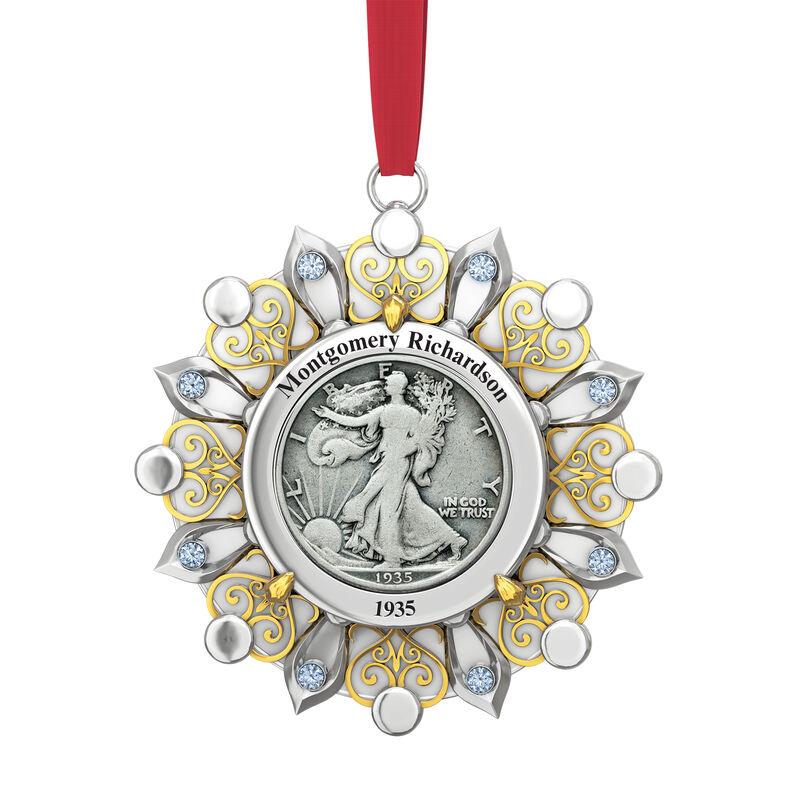 Birth Year Coin Ornament 10400 0013 a main