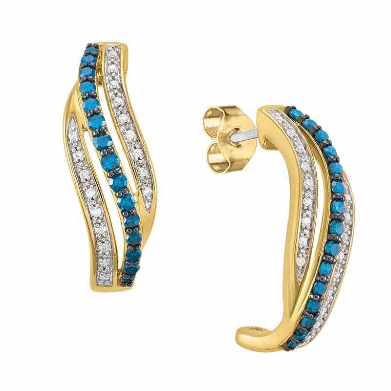 Blue Swirl Diamond Earrings 6451 001 9 1