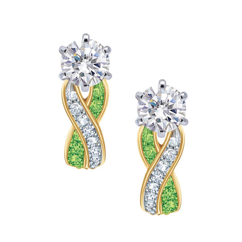 Birthstone Swirl Earrings 6243 0038 h august
