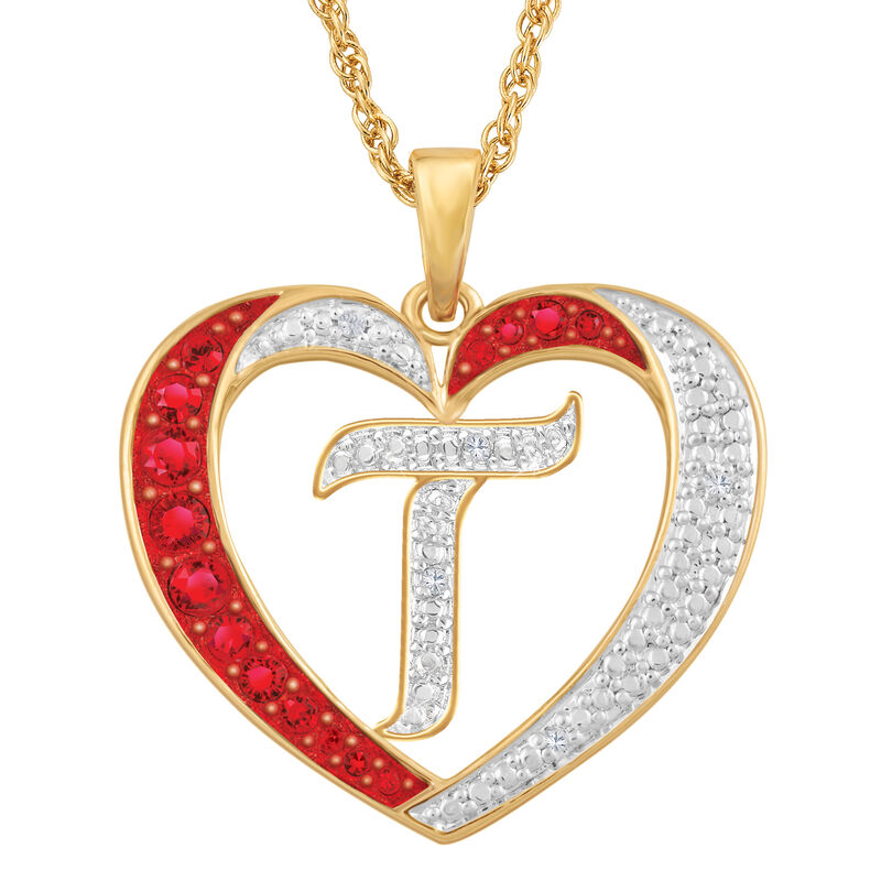 Personalized Diamond Initial Heart Pendant with FREE Poem Card 2300 0060 t initial