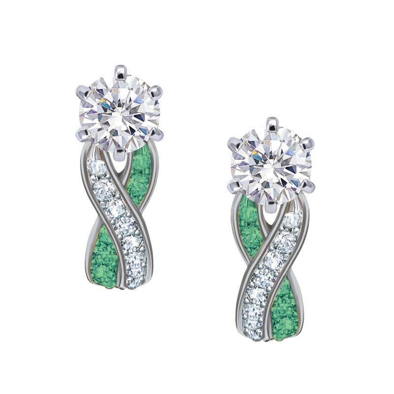 Birthstone Swirl Earrings 10115 0027 e may