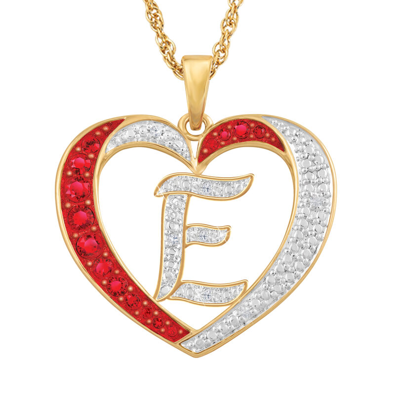 For My Daughter Diamond Initial Heart Pendant 10119 0015 a e initial