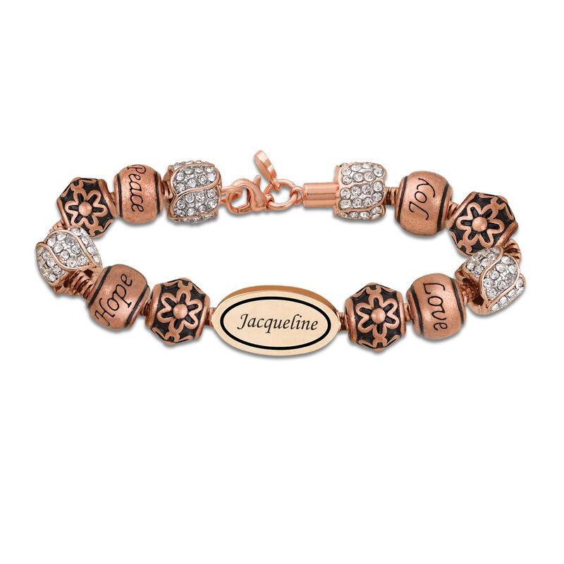 Personalized Copper Charm Bracelet 6493 0019 a main