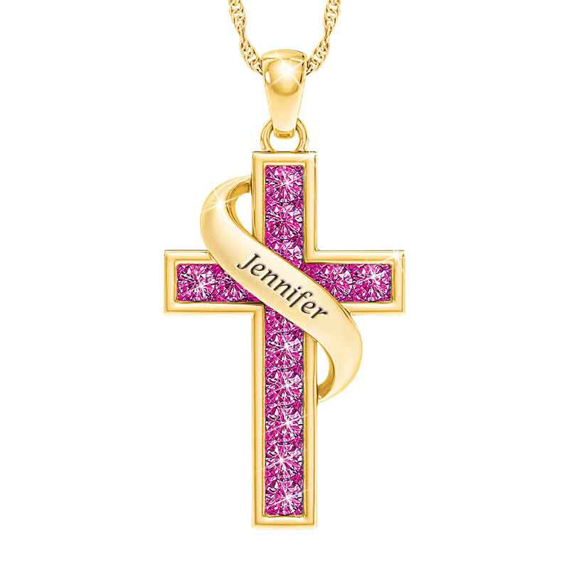 Personalized Birthstone Cross Pendant 5657 001 3 10
