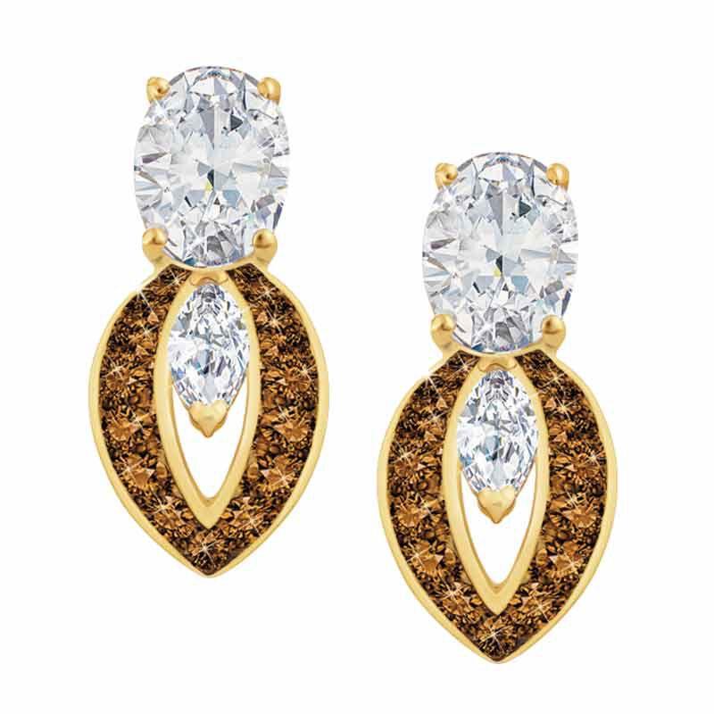 Mocha Splendor Diamonisse Earrings 2111 013 5 1